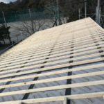 外張り断熱の屋根造り